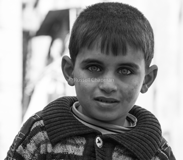 Child of war. Aleppo, Syria